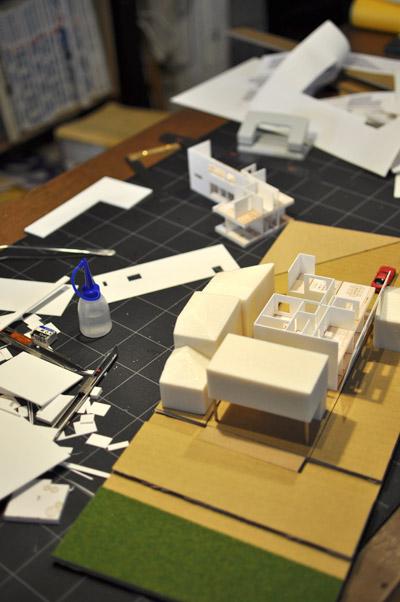 二世帯住宅模型作製