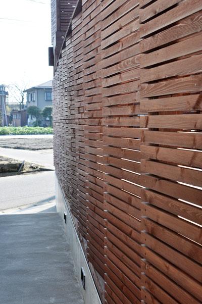 ジグザク木塀