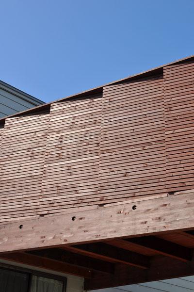 ジグザグ木塀