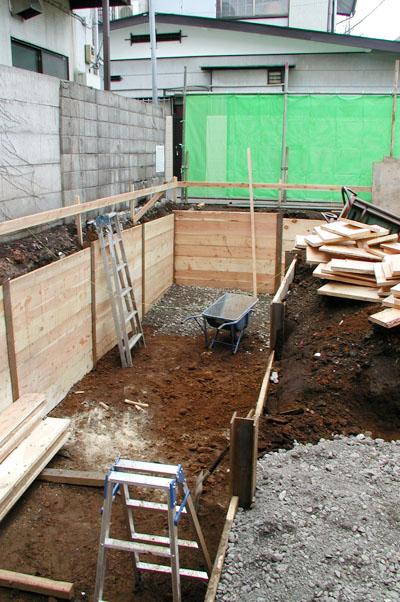 半地下部分掘削
