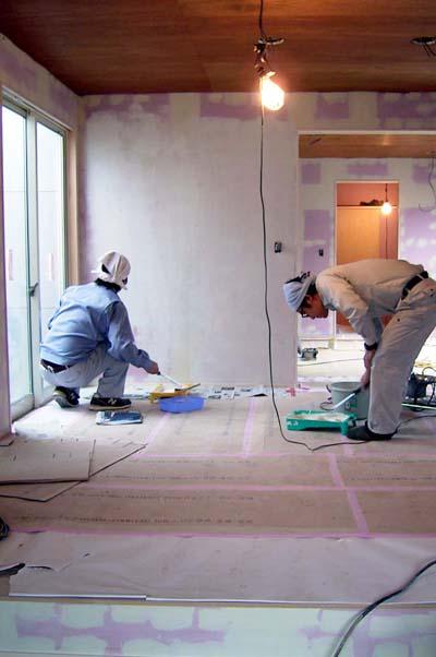 壁塗り自主施工