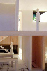 見附2世帯住宅模型