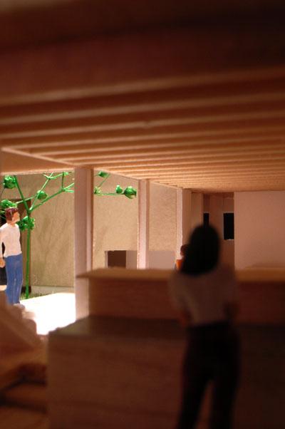 コートハウス模型