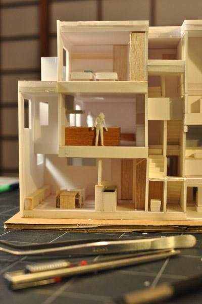 立川3世帯住宅スタディ模型