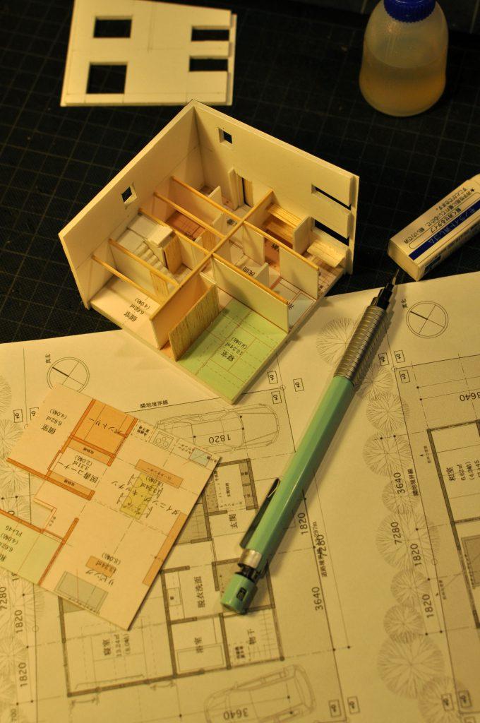 ベーシックハウススタディ模型作製