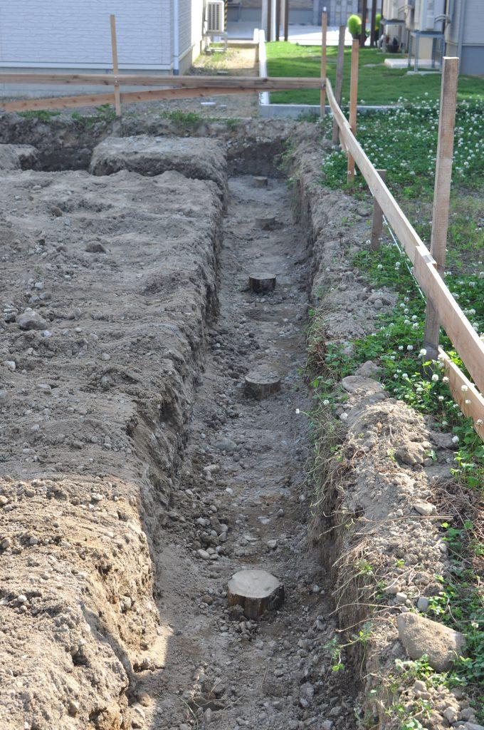 木製杭地盤改良