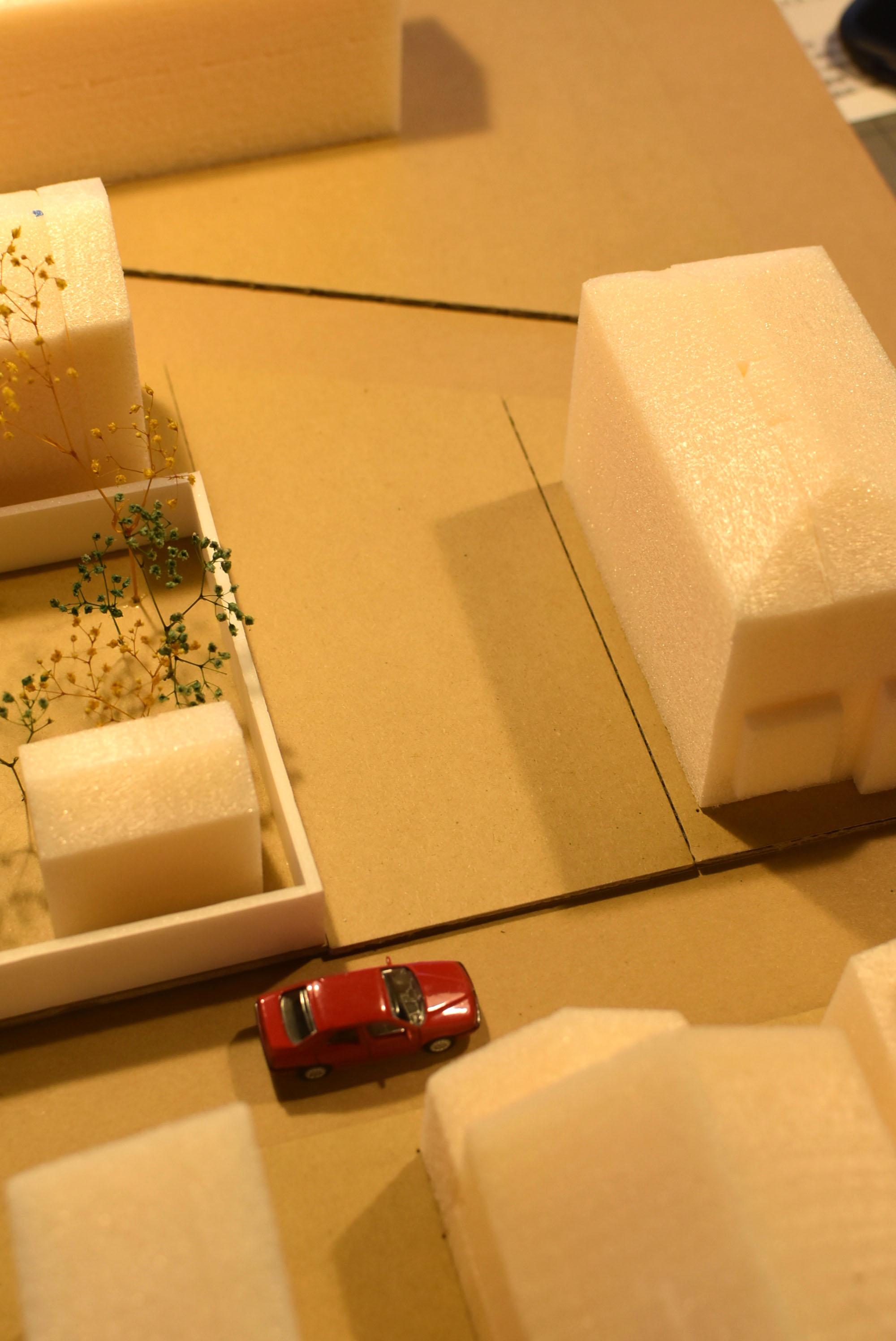 敷地周辺模型作製