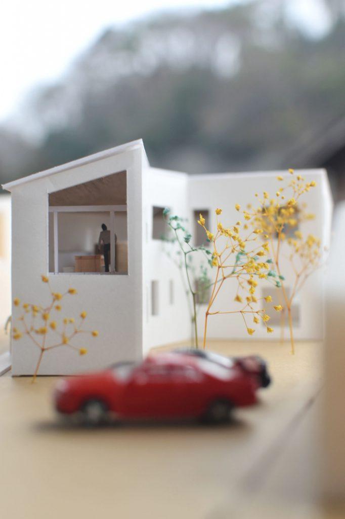 高田の住宅スタディ模型
