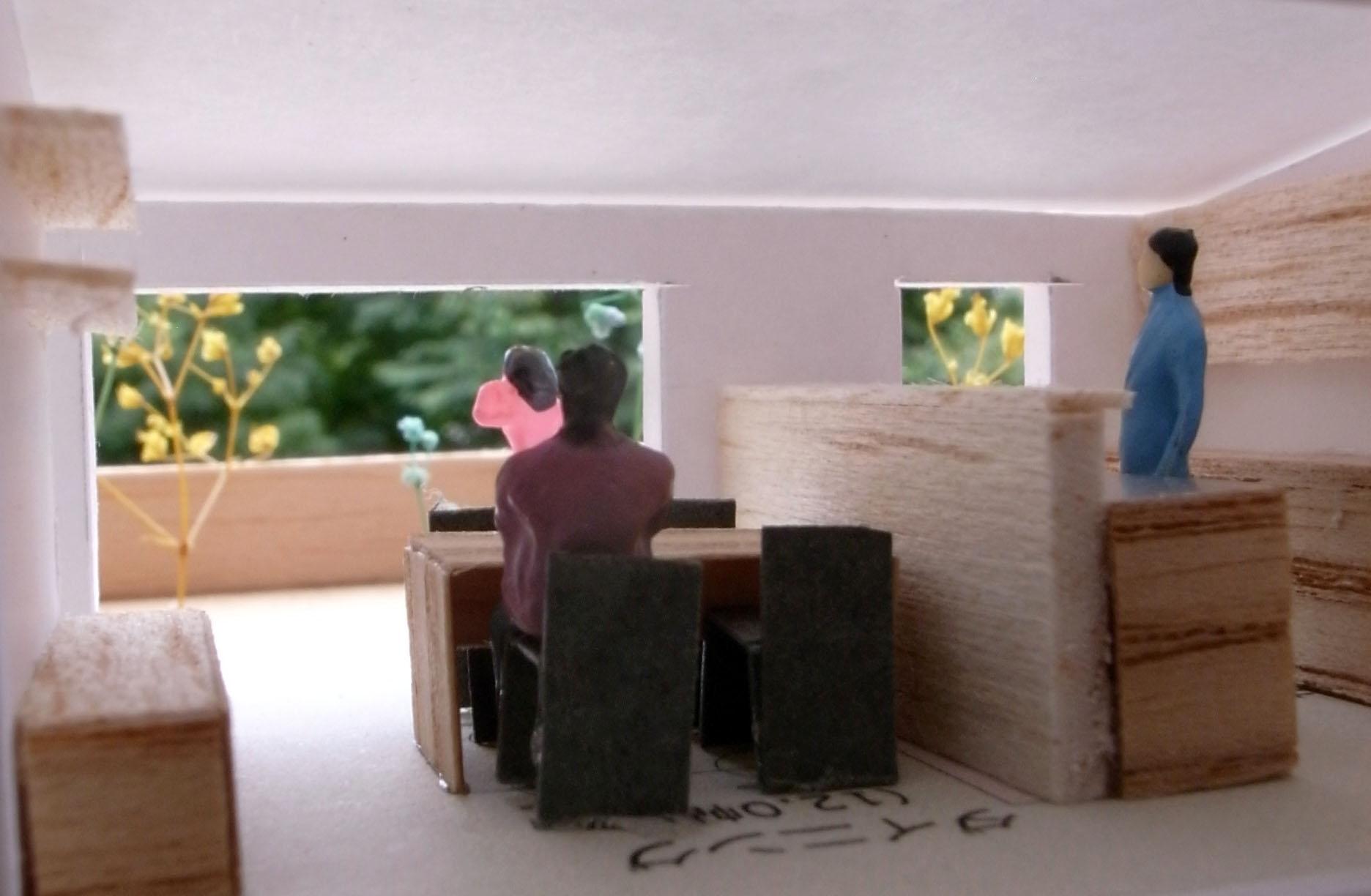 花園町建築模型内部001