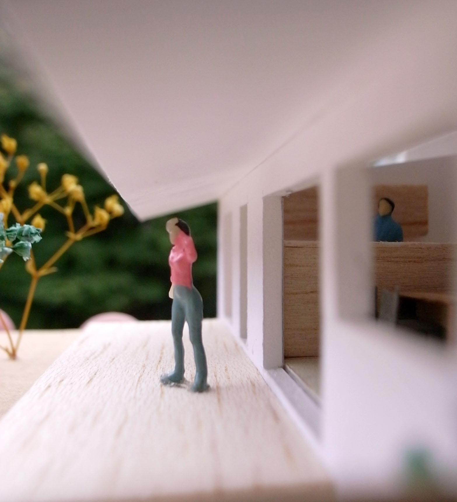 花園町建築模型内部002