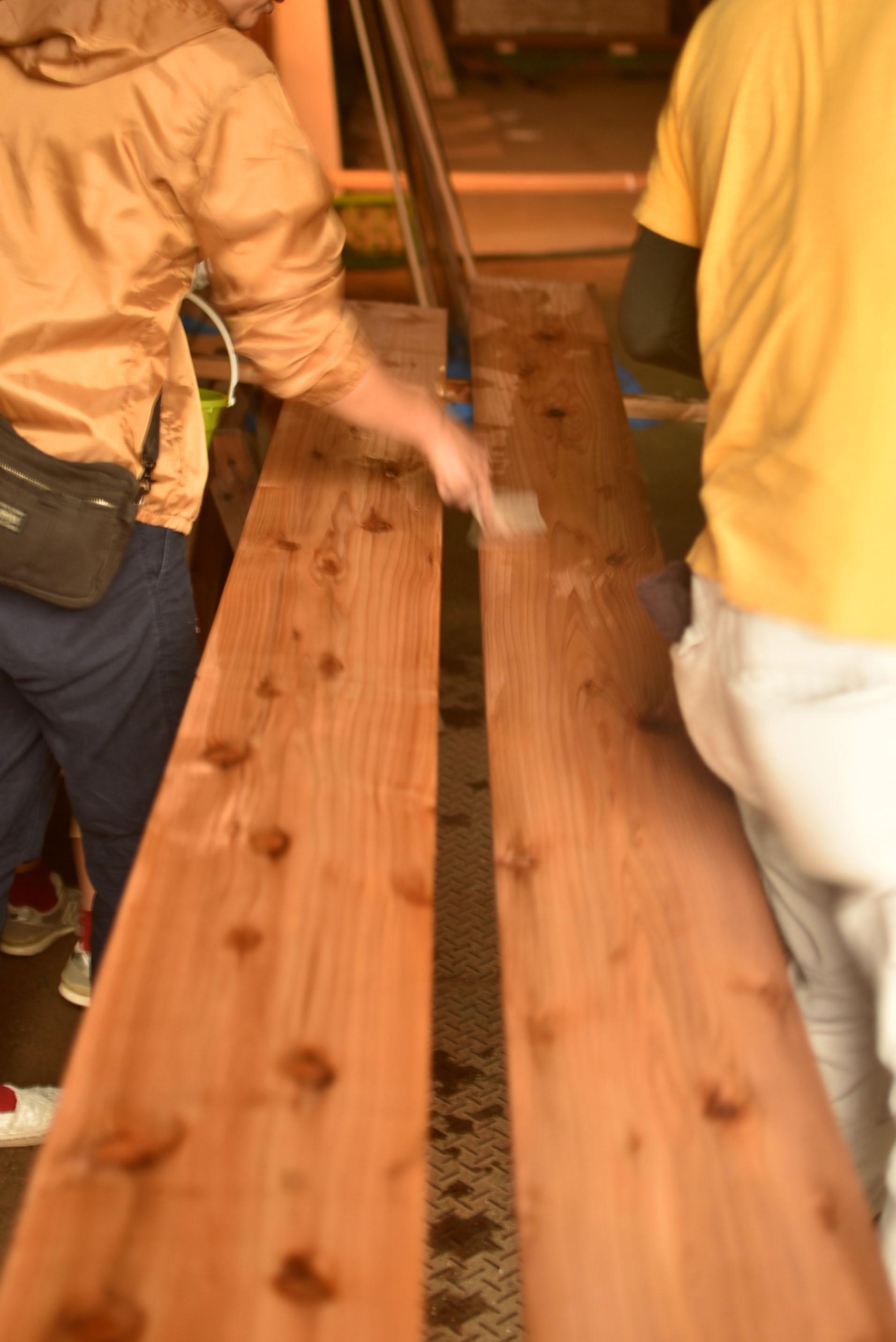 杉板DIY塗装