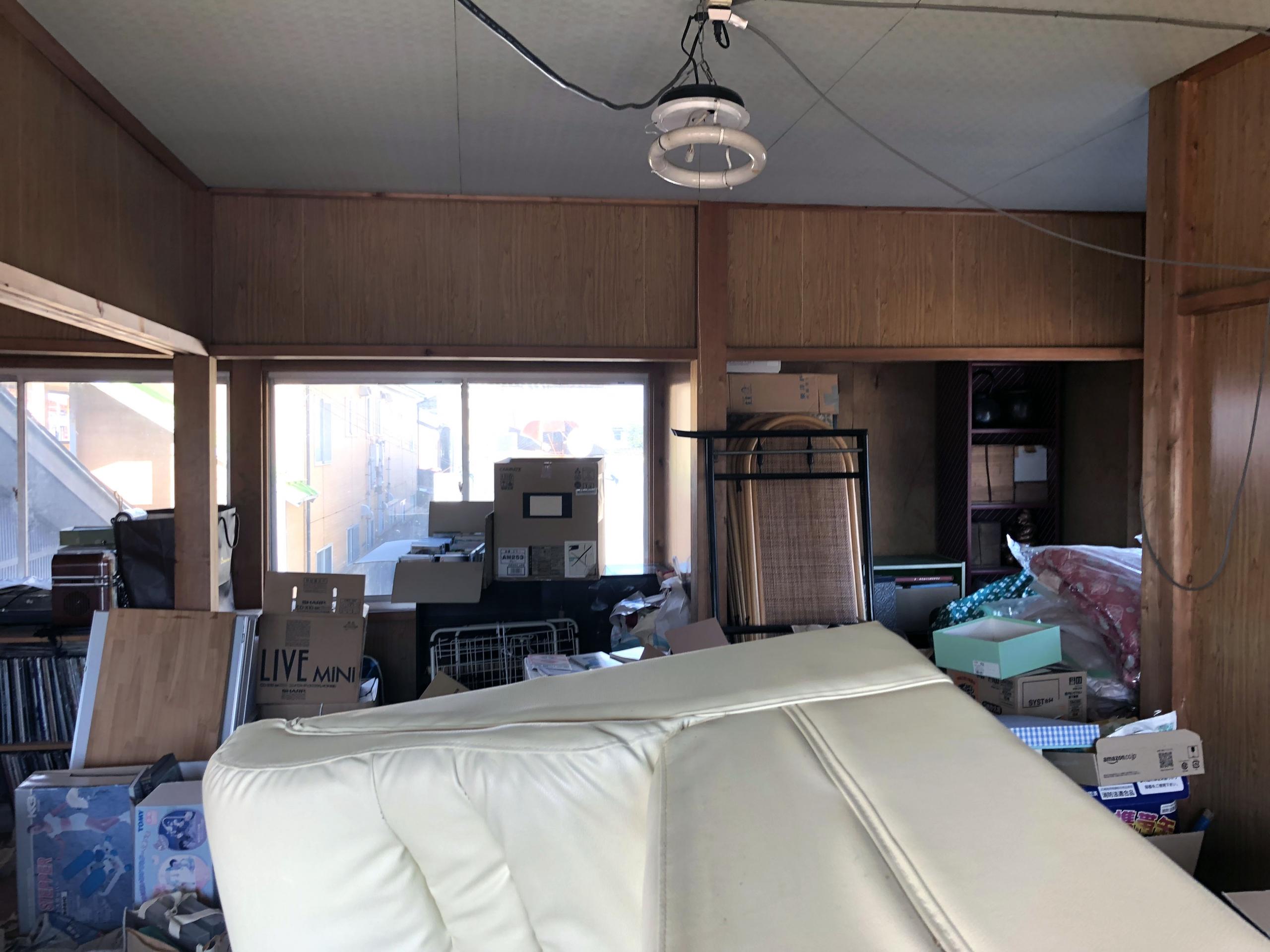 車庫工事前の状況