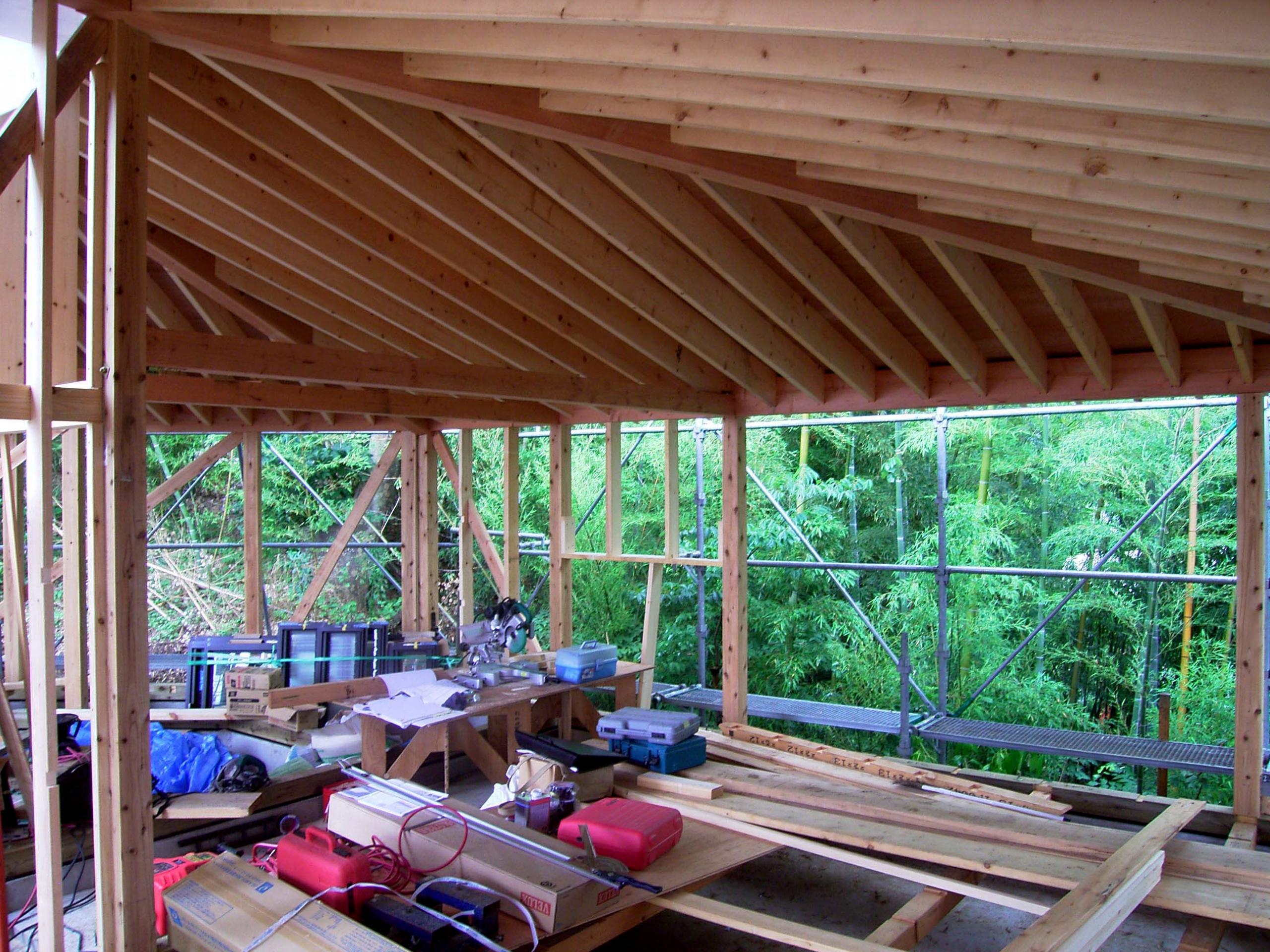 屋根構造垂木表し