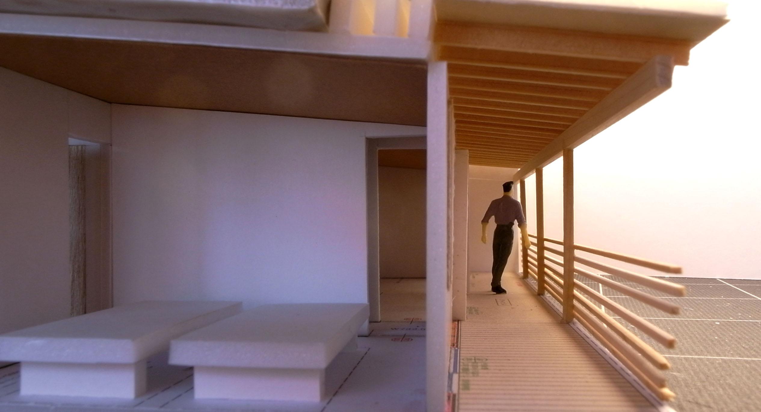 上越滝寺の店舗併用住宅建築模型
