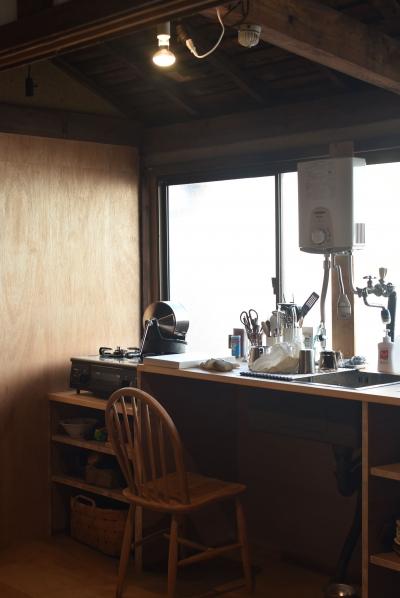 造作キッチンカウンター