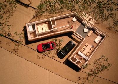 蓮野の平屋提案模型